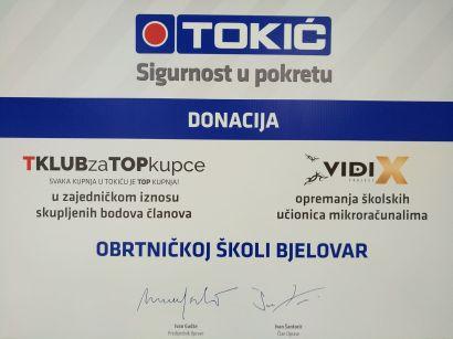 DONACIJA TVRTKE TOKIĆ d.o.o.