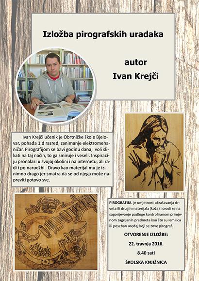 Izložba pirografskih uradaka Ivana Krejčija